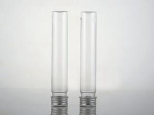 65ml transparent mask bath salt test PET tube with aluminum cap 65cc clear plastic cosmetic tube fast shipping