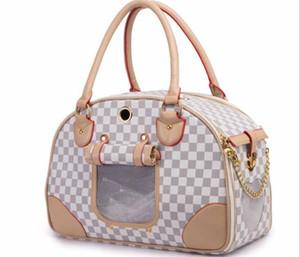 Pet Bag PU Shoulder Bag Out Pack Portable Handbag Cat Dog Carrier Outdoor Travel Carry Tote Fol