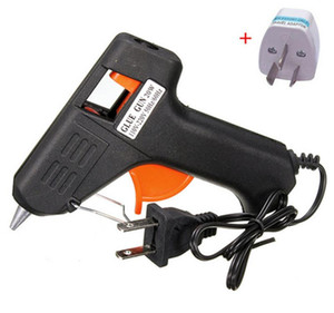 20W 110v-240v 7мм Клей Палочки Электрическое отопление Hot Melt Glue Gun Палочки Trigger Art Craft Repair Tool Black Вставные США 30pcs