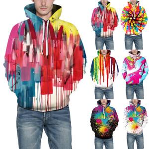 NUOVI degli uomini adulti Unisex 3D Stampa con cappuccio Jumper Pullover Maglione Felpa M-3XL