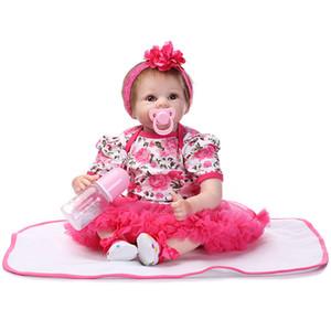 55 سنتيمتر سيليكون reborn baby doll kids رفيقا هدية للفتيات الطفل حيا لينة للباقات دمية بيبي reborn