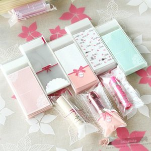 Wholesale-500pcs- 5*10+3cm Lovely Self-adhesive Plastic bag Candy Jewelry Barrette Lipstick sample packaging bags