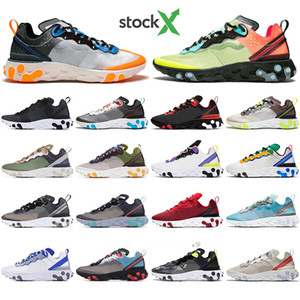 With Socks React Element 55 87 Undercover Men Women running shoes Tour Yellow Bright Blue Orange Pee mens designer sports sneakers trainers