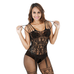 Plus Size Lingerie Sexy Hot Erotic Lingerie Para Mulheres oco malha Baby Doll Lingerie Fishnet Sex Costumes Roupa interior