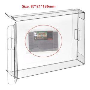 H 10Pcs Effacer cartouche Box Sleeve Case CIB protecteur pour SNES version US / Jeux SFC cartouche Box manches Japon Version