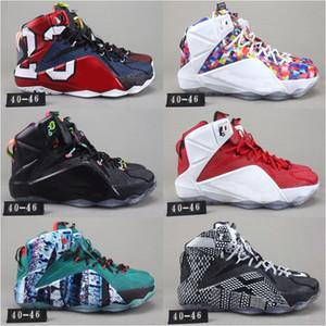 Nueva LeBron 12 XII PS Elite High Cut diseñadores de moda los zapatos de baloncesto de los hombres cómodos zapatos de bebé Niños Deportes buena calidad