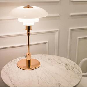 Louis PH abajur alta Replica design dinamarquês Desk Lamp quarto sala de estar ao lado Study Light Reading Light Table E14 Escritório Luz Moderno
