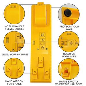 2020 Muro fácil deslocamento DIY Níveis Régua Multi-funcionais Photo Frame Nível Régua Moldura de Quadro Hanger Ganchos Foto Hot Sale Ferramentas