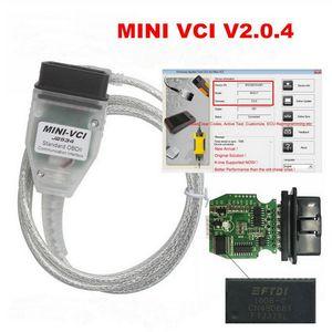 Whosales --- 10pcs / lot mini VCI V2.0.4 SW V14.20.019 Mini-VCI FTDI FT232RL Chip per Toyota Tis Techstream con DHL Spedizione gratuita