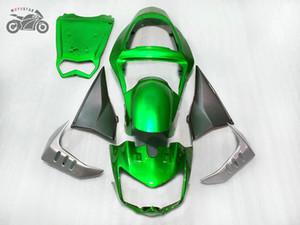 Individuell anpassen chinesische Verkleidungen für Kawasaki Z1000 2003-2006 Z1000 2004 2005 grüne Silber-ABS-Kunststoff-Motorrad-Körperverkleidungs-Kits