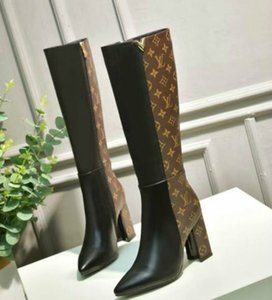 chaussures habillées style de la mode sauvage des femmes à talons hauts bottes de style de vente classique chaud bottes Martin usine vente directe