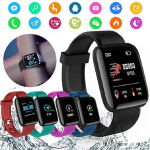 Relojes inteligentes 116 Plus ritmo cardíaco reloj inteligente pulsera de Deportes relojes inteligentes Banda impermeable SmartWatch Android Con D13 envases al por menor