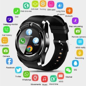 Top V8 SmartWatch Bluetooth Smartwatch écran tactile montre-bracelet avec fente de l'appareil photo / carte SIM, étanche Montre intelligente DZ09 X6 VS M2 A1 (Retail)