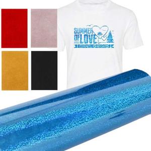 Glitter impresión de la camiseta de papel Textil Bricolaje duradero de transferencia de Hierro en papel fotográfico de 1 m / 5m un rollo de tela creativo Telas de calor