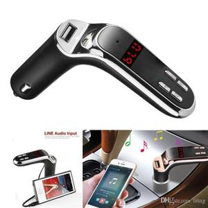 Nuevo cargador del coche del USB de 5V / 2.5A kit de coche manos libres Bluetooth Transmisor FM Radio Reproductor MP3 cargador para iPhone AUX 7 para Samsung S8