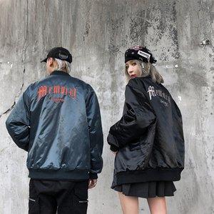 Street Stickerei Ständer Windjacke Baumwolle gefütterte Jacke Männer und Frauen dicke helle Parka Aufmaß Mäntel