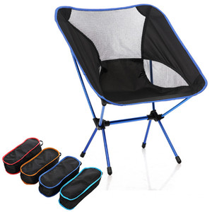 Portable Pliable Chaise De Lune De Camping De Camping Tabouret De Barbecue Pliant Extended Randonnée Seat Jardin Ultralight Bureau Mobilier De La Maison