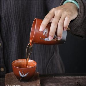 Çömlekçilik Çay bardağı Vinçler fuar kupa 8.0 * 9.1cm 210ml kaba TaoHuanCai değişken işaret fincan çay deniz kung fu çay aracı