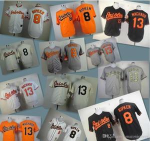 2020 erkekler kadınlar çocuklar Beyzbol Formalar Oriol Dikişli 8 Cal Ripken Jr 10 Adam Jones 13 Manny Machado beyaz gri kırmızı siyah beyzbol Jersey hediye