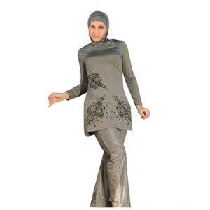 2019 5XL Print Islamic Scarves & Wraps Hats, Scarves & Gloves Swimwear Women Girls Muslim Swimwear Full Cover Modest Islamic Swimming Suits
