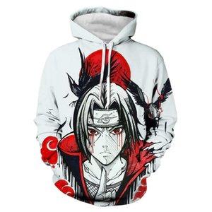 Yüksek kaliteli erkek Tasarımcı Naruto Hoodies Sweatshirt 3D Unisex Kazak Hoodie Men Baskı / kadınlar Giyim AA0204