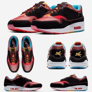 Mulheres Novas Homens Ano Novo chinês CNY Tinker Sketch to Shelf Black Schematic 1s 87 Running Shoes 87s White Gum Sports Sneakers Zapatos