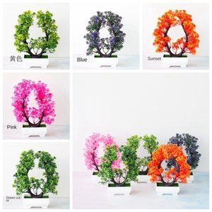 New Artificial Plants Bonsai Small Tree Fake Flowers Potted For party Home Decor Hotel Garden Landscape Decor Photograph Prop