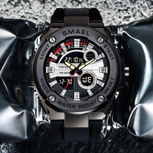 2020 Men Military Watches Brand Luxury SMAEL Sport Quartz Wristwatches Male Watches relogio Digital 1625 Sport Watches Waterproof Men