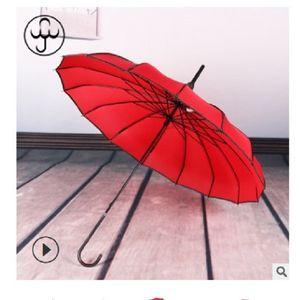 2020 venda quente 16K longa alça pólo reta nupcial guarda-chuva ao ar livre guarda-sol longa-handle guarda-chuva à prova de vento guarda-chuva Baobian pagode
