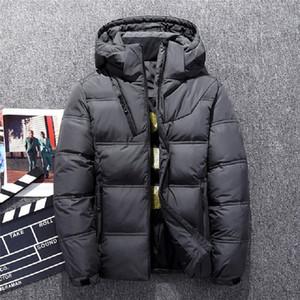 뜨거운 판매 남성 다운 자 켓 두꺼운 후드 방풍 2018 겨울 자 켓 남자 따뜻한 눈 코트 캐주얼 남성 의류 2018 플러스 크기 M-3XL