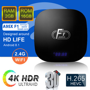 A95X F1 أندرويد 8.1 TV Box Quad Core 2gb 16GB Amlogic S905W Smart Media Player Better X96 Mini Mxq Pro