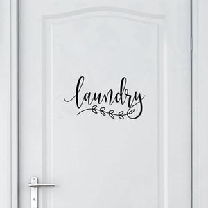 Домашнее украшение Наклейки Плакаты стены стикеры ванной Вход Декаль Главная Туалет дверь Искусство декора стены, Прачечная двери Вход Виниловые наклейки