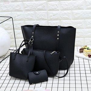 4Pcs Messenger Bags Women Ladies Leather Four Piece Shoulder Crossbody Bag Purse Clutch Pouch Clutch Wallet Bag Bolsas