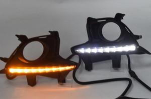 Feux de jour couvercle de la lampe Phares anti-brouillard phare 12V Lumière du jour DRL pour Toyota Highlander 2014 2015 2016