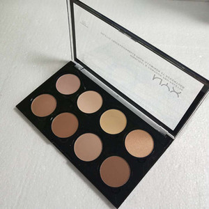 NYX Highlight & Contour Pro Palette Concealer Powder Shadow Foundation Face Palette Full Size 8 colors shadow makeup dhl free