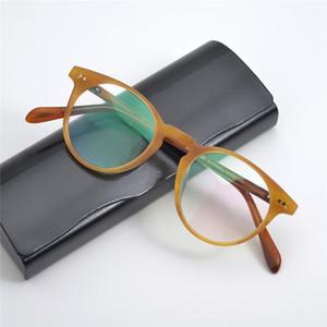 EU-AM HOTSALE OV5256 للجنسين ريترو خمر جولة بلانك النظارات الإطار 46-21-145 خفيفة الوزن Fullrim لوصفة طبية نظارات fullset التعبئة
