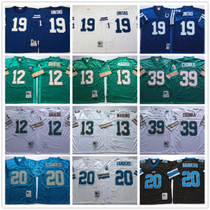 Cosidas camisas Vintage Bob Griese Dan Marino Larry Csonka Barry Sanders Johnny Unitas bordado fútbol jerseys
