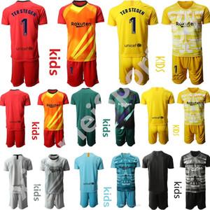 19 20 bambini Barcellona Casa Trasferta maglia di calcio Jersey di calcio dei bambini di calcio camicia corredi uniformi Ragazzi portiere giovani ter Stegen neto
