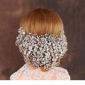 Luxury Clear Crystal Bridal Tiara Handmade Wedding Hair Jewelry Headband Accessories Headpiece Women Crowns Pageant J190701