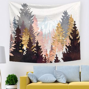 Art nordique impression soleil montagne tapisserie abstrait murale forêt forêt tenture baleine cactus couverture décorative