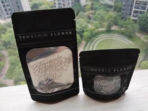 50pcs Jungle Sadece Erkekler Standı Yukarı Kılıfı Kuru Ot Çiçek Paketi Zipper Packaging Kanıtı Bags Jungleboys Paketi Kilitli Mylar Siyah Çanta kokla