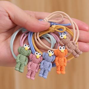 300pcs / lot fai da te semplice Multi resina degli animali del fumetto dei capelli della fascia Cookie Monster Rubber Band Hair Styling Tools Accessori HA1347