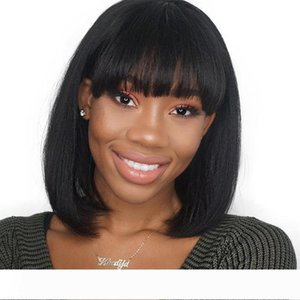 HD Short Lace Wig Real Virgin Brazilian Glueless Silky Straight Full Lace Front Cheap Hd Transparent Short Bob Human Hair Wigs With Bangs