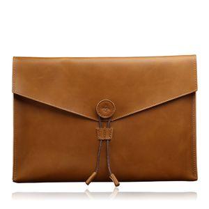 2019 nouveau cuir documents sac d'affaires décontractée attaché-case à la mode 13 pouces rétro sac documents A4