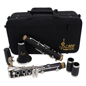 Clarinet ABS 17 Clé bB plat Soprano Binocular Clarinette avec Gants chiffon de nettoyage 10 Reeds tournevis cas d'instruments à vent