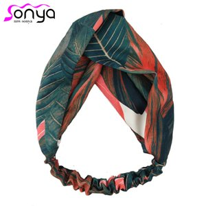 MWsonya Crossed élastique vacances Turbans pour les filles plante sportif modèle Accessoires cheveux FD100