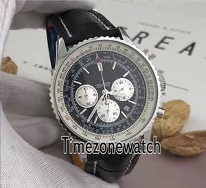 Nuovo Navitimer 01 AB012012 | BB01 | 435X | A20BA.1 Quadrante nero Sottodiale bianco Giappone OS Cronografo al quarzo Orologio da uomo Cronometro in pelle Orologi economici