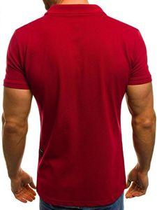 Court T-shirts manches Col d'été Hommes stand rapide vêtements secs classique Designer Hommes Casual Polos solide