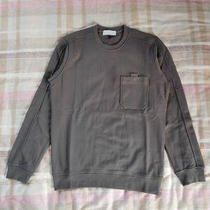 19FW Avrupa Tişörtü Cep Crewneck Sweatshirt Cep Yuvarlak Yaka Triko Rahat Rahat Erkek Tasarımcı Tişörtü HFWPWY283