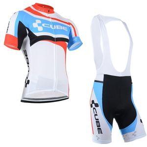 2020 Cube squadra Cycling Jersey Suit Estate sport Jersey Vestiti di riciclaggio di Tour de France Uomini manica corta / short set Bicicleta sportivo